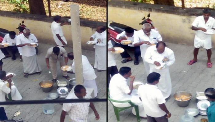 उपोषणाला बसलेल्या कार्यकर्त्यांनी स्टेजमागे खाल्ली बिर्याणी