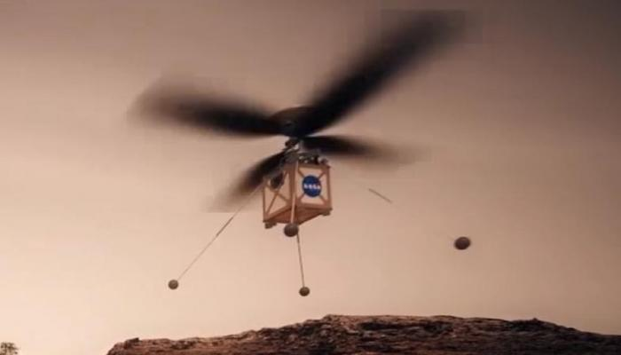मंगळावर हॅलिकॉप्टर उडवणार नासा, व्हिडिओ व्हायरल