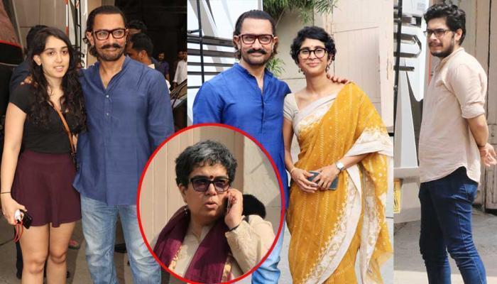 'पाणी फाऊंडेशन'साठी आमिर खान परिवारासोबत मेहबूब स्टुडिओमध्ये !
