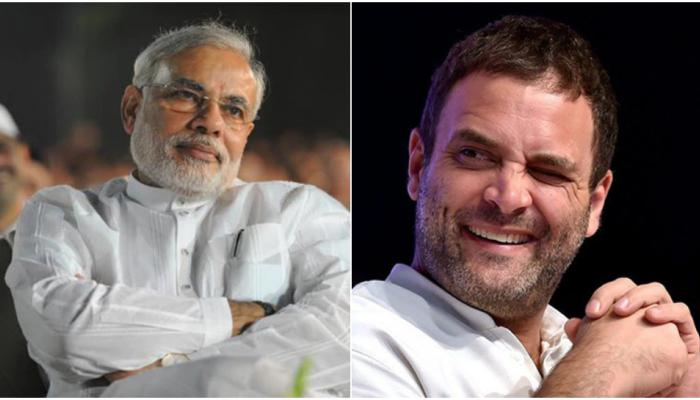 राहुल गांधी यांची लोकप्रियताही मोदींना तोडीस तोड