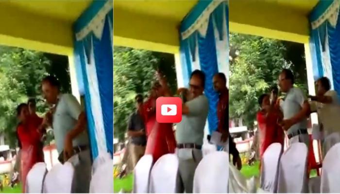 VIDEO: महिलेची दबंगगिरी, सीईओंच्या लगावली कानशिलात