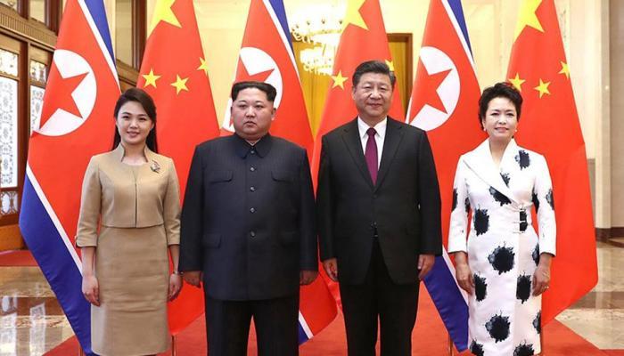 शी झिनपिंग - किम जोंग ऊन यांच्यात द्विपक्षीय चर्चा