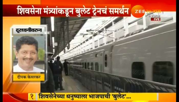 शिवसेनेचा विरोध डावलून बुलेट ट्रेनसाठी २५० कोटींची तरतूद