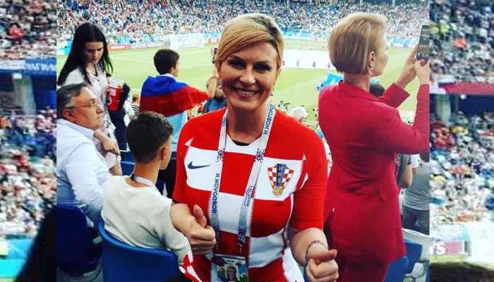 क्रोएशियाच्या राष्ट्राध्यक्ष कोलिंडांनी उड्या मारत केला विजय साजरा
