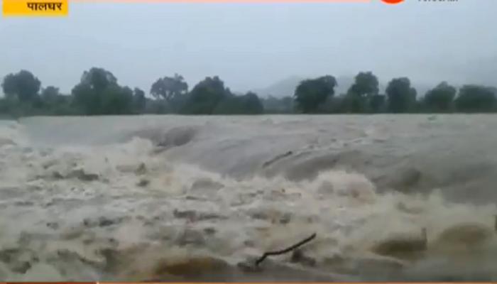 पालघरमध्ये मुसळधार पाऊस, धामनी धरणातून ७,४०० क्यूसेस पाण्याचा विसर्ग