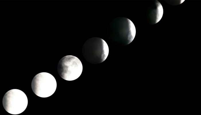 फोटो : पाहा, कसं दिसलं खग्रास चंद्रग्रहण