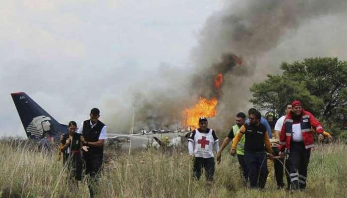 मॅक्सिको विमान दुर्घटना : जीवितहानी टळली