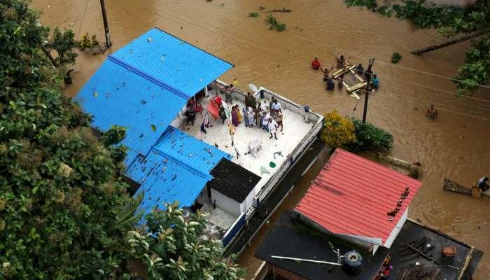 केरळात जलप्रलय : पिण्याच्या पाण्याचा प्रश्न गंभीर, २.८ लाख लिटर पाणी रवाना