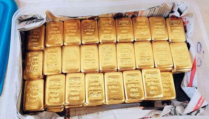 मुंबई विमानतळावरुन करोडोंचं सोनं जप्त