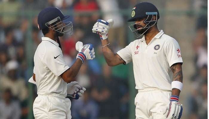 भारताला सुरुवातीलाच ३ धक्के, आता रहाणे-कोहलीवर मदार