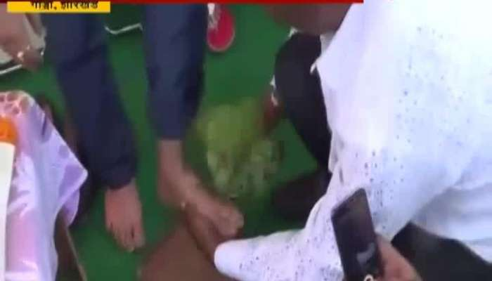 Jharkhand BJP Man Washs Nishikant Dubey_s Feet Drinks Dirty Water
