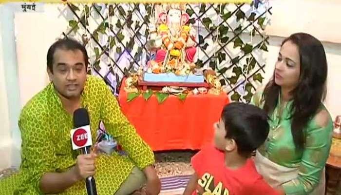 Sukhkarta Celebrity Ganesha Rahul And Sweta Mehendale 19 September 2018.