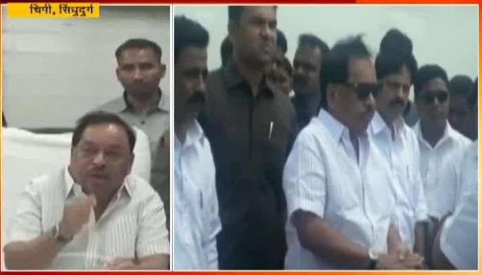 Narayan Rane Criticizes Deepak Kesarkar after Chipi airport plane test
