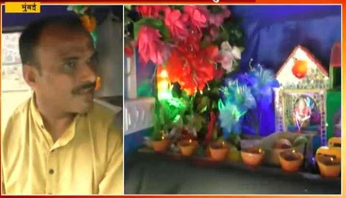Mumbai Auto Driver Satyawan Gite Ganpati in Auto