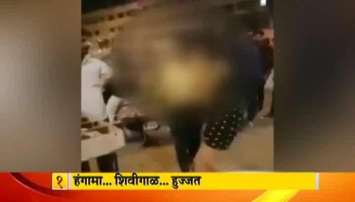 Kalyan Two Drunken Girls Made Probelms Near Kalyan Station
