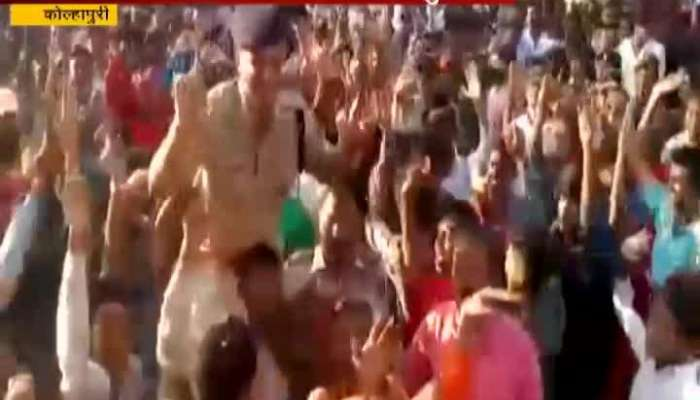 Kolhapur After Finish Immersion Peacefully Police Dance In Ganesh Immersion