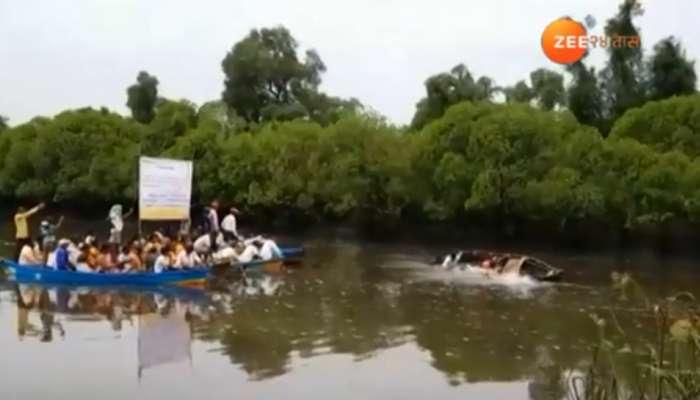 रत्नागिरीत खाडीपात्रात बोट बुडाली, 8 जणांना वाचविले