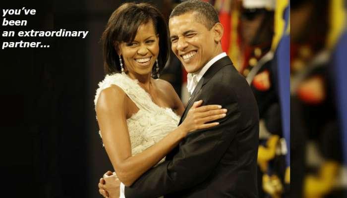 लग्नाच्या वाढदिवसादिवशी मिशेलसाठी बराक ओबामा यांनी लिहिला 'हा' खास संदेश