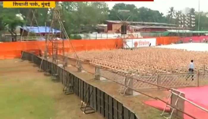 Mumbai Dadar Shivaji Park Shiv Sena Dasera Melava Prepration