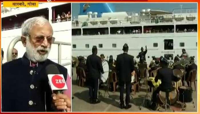 Mumbai Goa Angaria Cruise Reached Vasco Received Warm Welcome