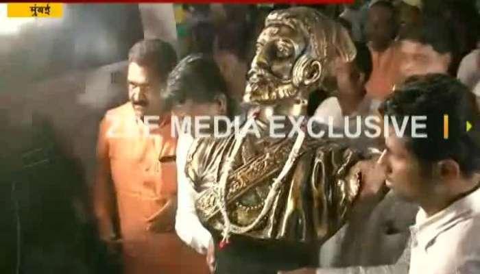 शिवस्मारकाचा कार्यक्रम रद्द, शिवाजी महाराजांची ती मूर्ती परत आणली