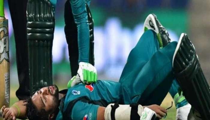 Pak vs NZ: हेल्मेटला चेंडू लागल्यानंतर पाकिस्तानचा फलंदाज मैदानातच कोसळला