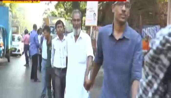 Vidhyavihar People Form Human Chain By Tansa Slum People