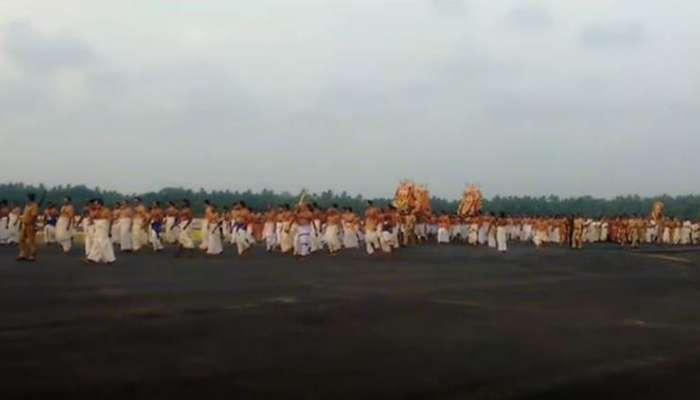 देवाच्या मिरवणुकीसाठी तिरुअनंतपुरम विमानतळावरील हवाई वाहतूक बंद